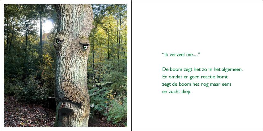 Pagina uit het boekje 'dierengedichtjes'